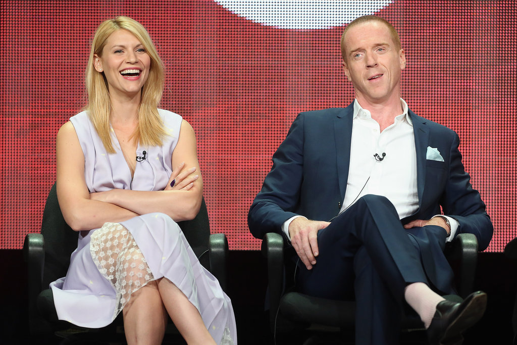 Claire Danes and Damian Lewis had a laugh at the TCAs.