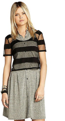 BCBGENERATION Cropped Striped Top