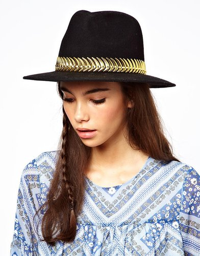 ASOS Felt Fedora With Metal Band
