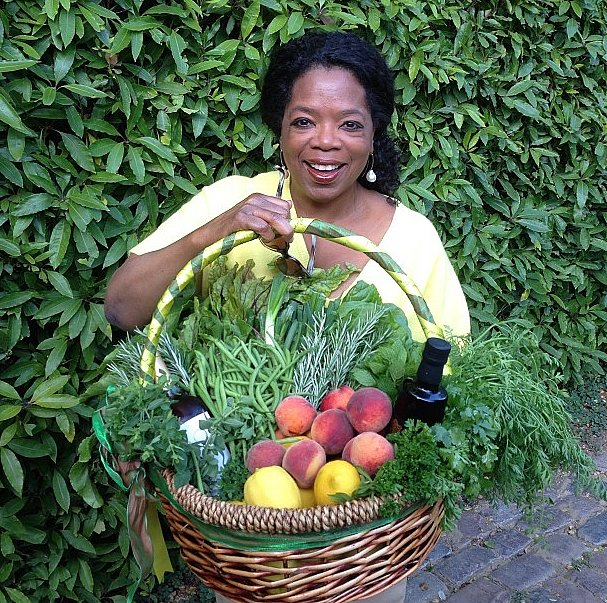 Oprah's neighbors Ellen DeGeneres and Portia de Rossi have a garden that would rival any farmers market! Source: Instagram user oprah