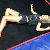 After seeing this pic of Julianne Hough, we all want to go to a trampoline gym! Source: Instagram user juleshough