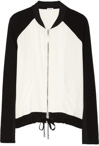 Splendid Color-block voile bomber jacket