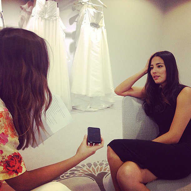 Here's Jasmine, our fashion editor, interviewing the divine Jessica Gomes ahead of the David Jones Spring Summer collection runway.