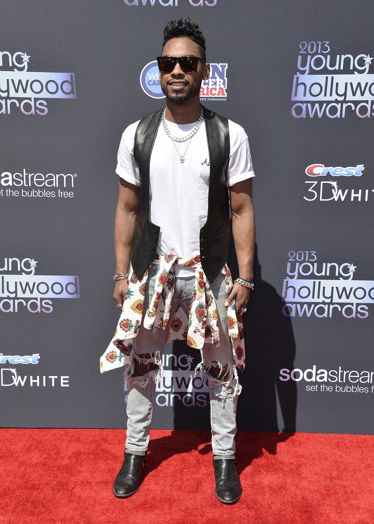 Miguel walked the Young Hollywood Awards red carpet before the show.