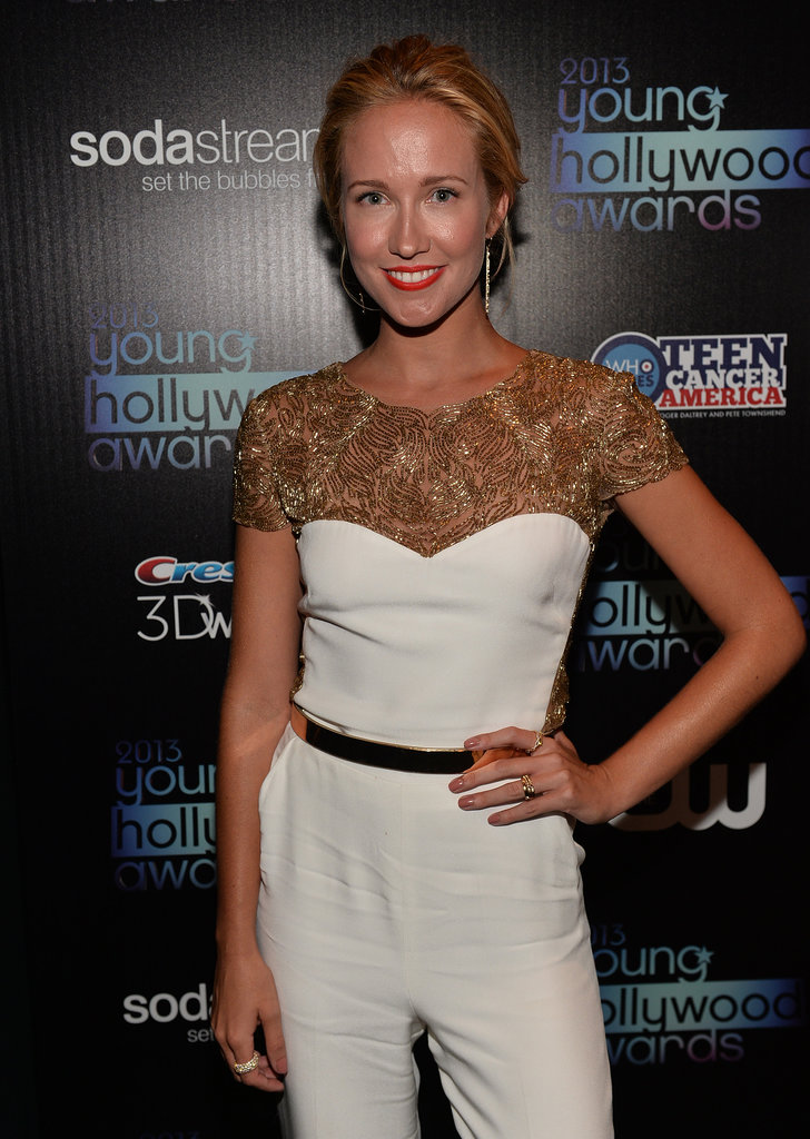 Anna Camp struck a pose backstage at the Young Hollywood Awards.