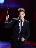 The Way Way Back's Liam James received the Male Breakthrough Performance Award at the Young Hollywood Awards.