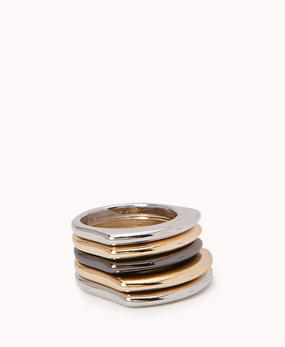 FOREVER 21 Gradated Stackable Ring Set