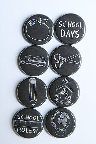 Chalkboard School Buttons