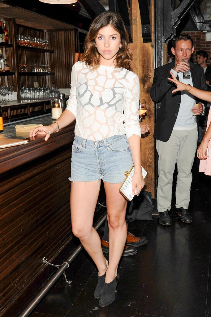 Reece Solomon was sheer perfection in her peekaboo blouse and cutoffs at Lafayette.