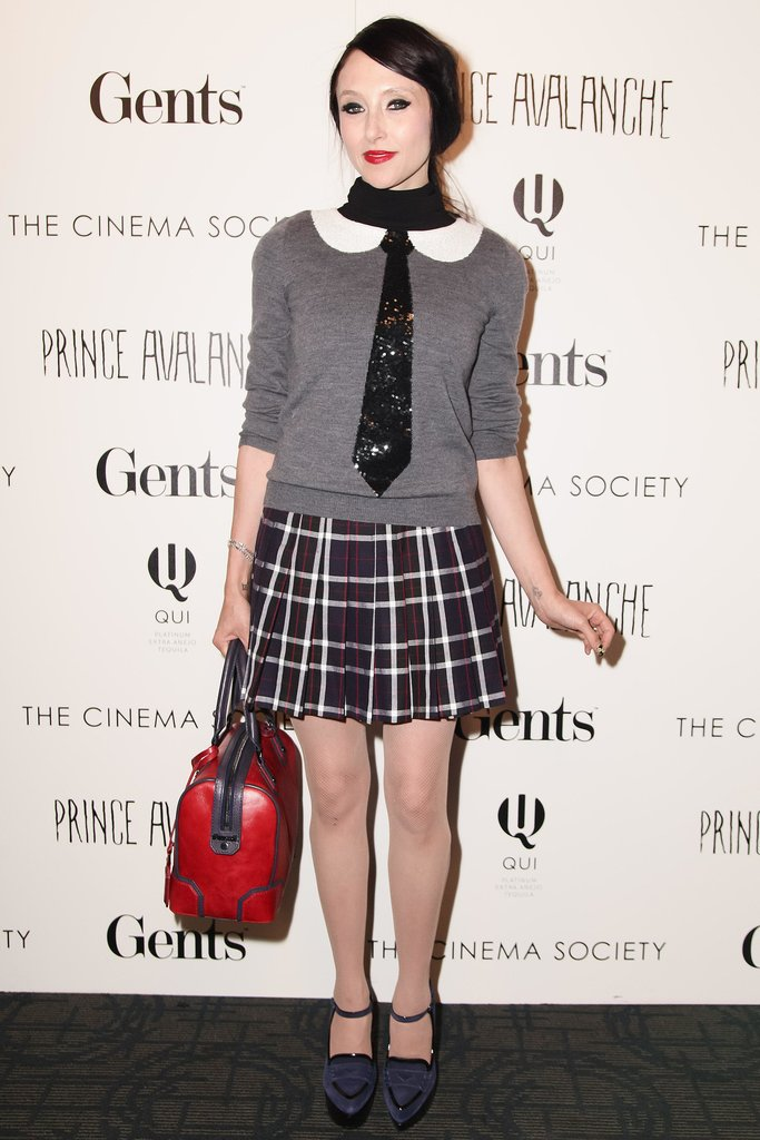 Stacey Bendet took schoolyard inspiration into account when planning her ensemble for the Prince Avalanche screening.