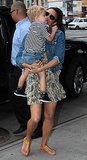 Paula Patton carried her son, Julian, in NYC.