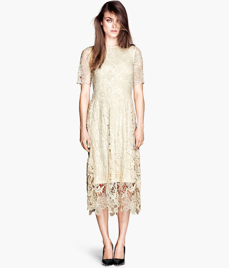 This knee-length lace dress ($70) is going to be so perfect for early Fall, we'd stalk a store to get it. Things just got a lot easier now that we click and buy.
