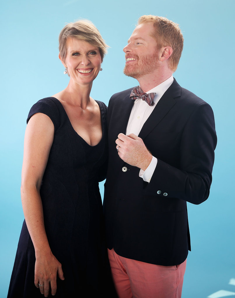 Cynthia Nixon posed with Jesse Tyler Ferguson backstage.