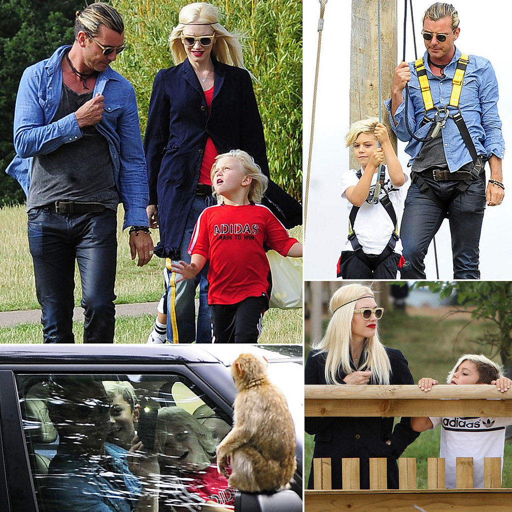 Gwen Stefani Takes a Walk on the Wild Side With Her Boys