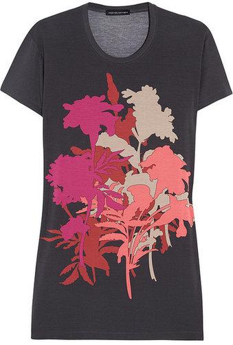 Jonathan Saunders Floral-print stretch-jersey T-shirt
