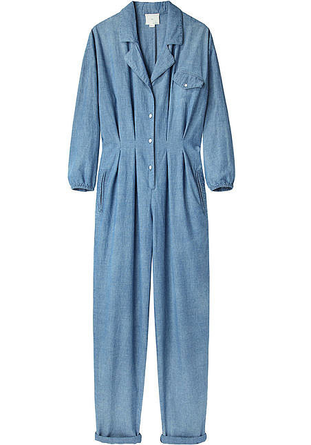 Make a strong style statement in this chambray jumpsuit ($595) by Band of Outsiders.