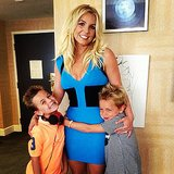 Britney Spears brought her sons, Sean and Jayden, to the Smurfs 2 premiere. Source: Instagram user britneyspears