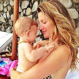 Gisele Bündchen got a sweet snuggle from her daughter, Vivian. Source: Instagram user giseleofficial