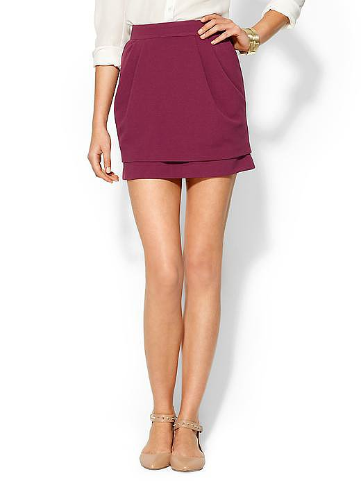 You know Fall's approaching when you start spotting cranberry-hued pieces ($35, originally $49). Bring it on!