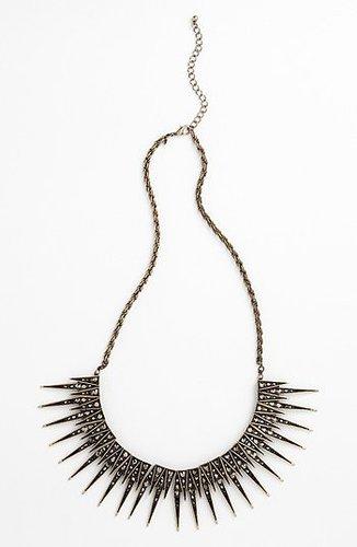 Leith Spike Statement Necklace Black Diamond