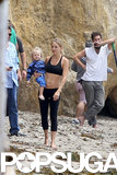 Kate Hudson Works It Out on the Beach in a Sports Bra