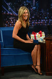 Jennifer Aniston made a stop by Late Night.