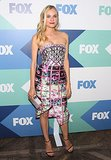 Diane Kruger was her usual high-style self in a Mary Katrantzou Resort 2014 dress, paired with Stuart Weitzman strappy sandals.