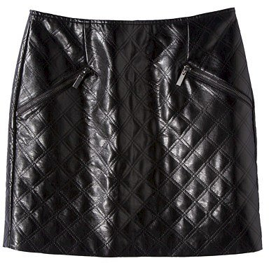 Mossimo® Women's Faux Leather Quilted Mini Skirt -Black
