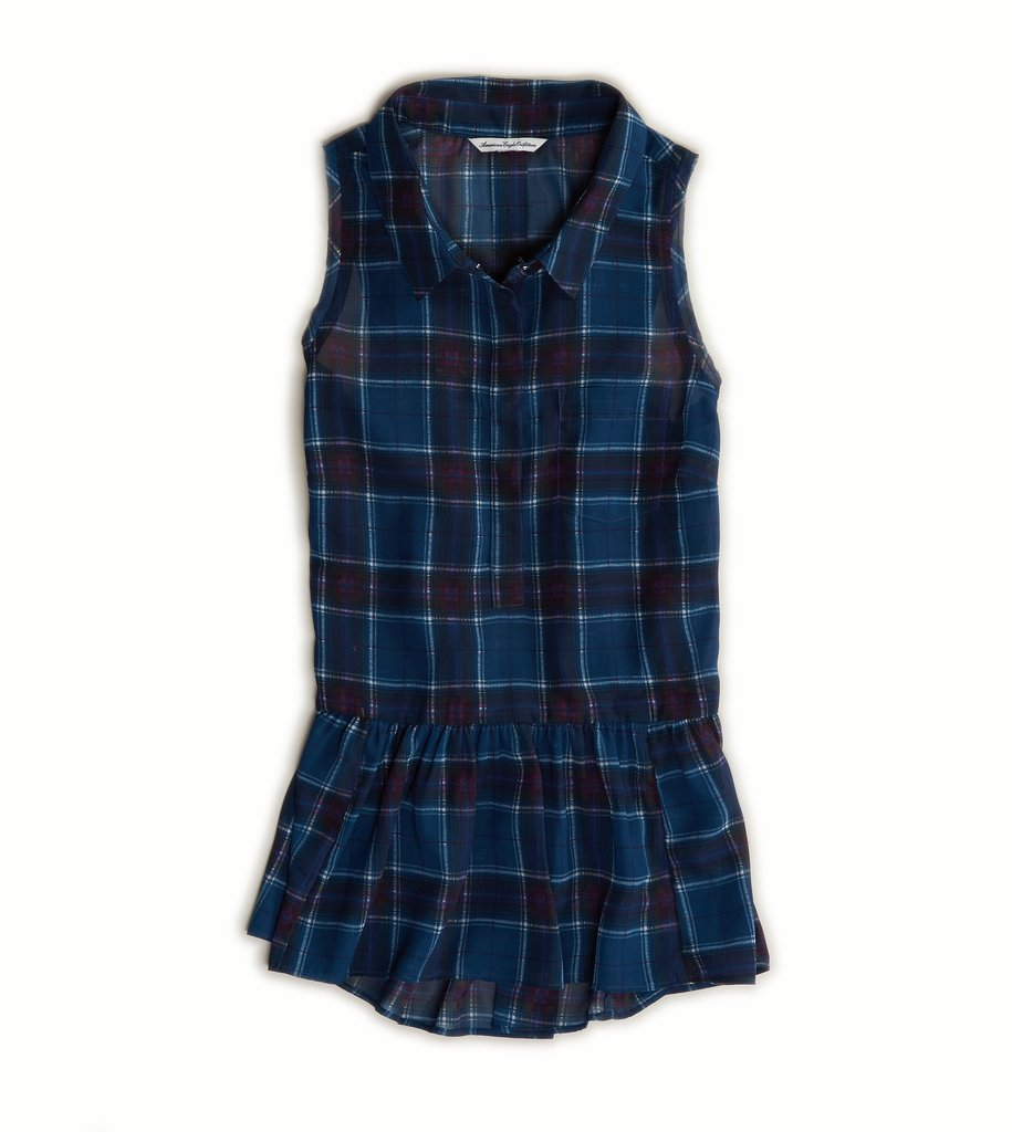 Fit Fall-friendly plaid into your day job with American Eagle's sweet peplum blouse ($20, originally $35).