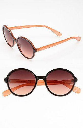 Steve Madden Round Sunglasses Black/ Coral One Size
