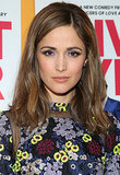 Rose Byrne stepped out in a flowery dress for the I Give It a Year premiere. Instead of going for a colorful lip, Rose stuck with the shades in her dress by wearing a shimmering lavender eye shadow on her lids.
