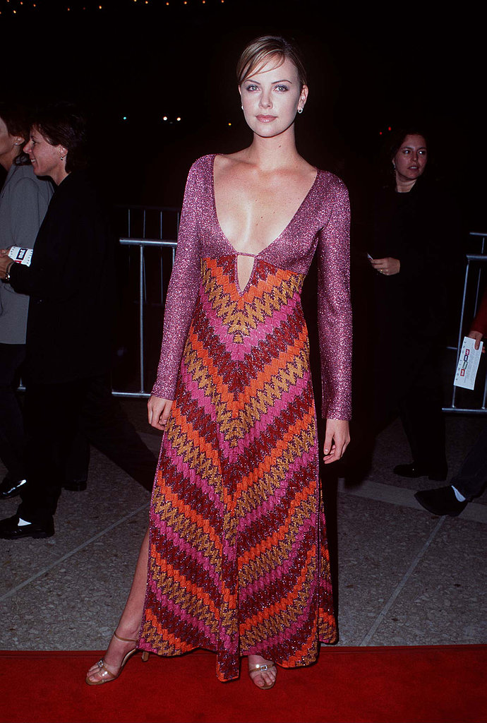In September 1996, Charlize Theron bared a lot of cleavage at the That Thing You Do premiere in LA.