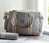 PotteryBarn Kids Gray Classic Diaper Bag