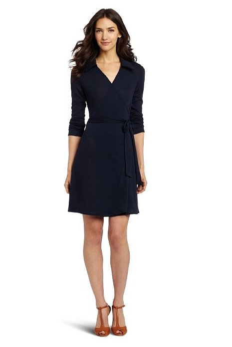 The wrap dress is an office-ready stand-by for women everyone — it can never hurt to add another ($48) to the mix!