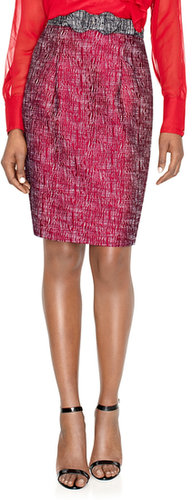 Sophie Theallet Textured Pencil Skirt
