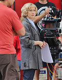 Amy Adams wore a short wig on the Vancouver set of Big Eyes on Wednesday.