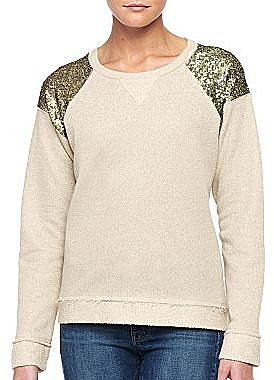 MNG By Mango® Sequin Shoulder Sweatshirt