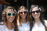 No music festival would be complete without flowers! This trio of friends wore matching wreaths.