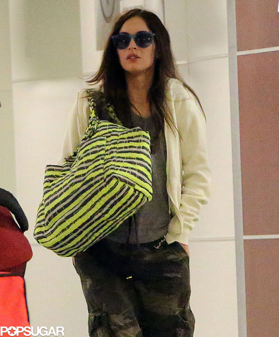 Pregnant Megan Fox traveled through JFK.