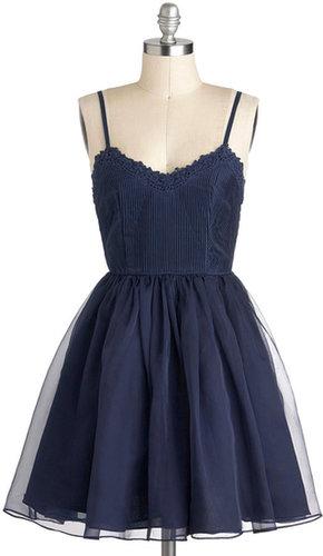 Navy Too Late Dress