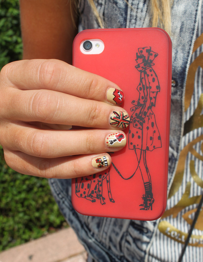 The detail of this rock-themed nail art was unbelievable! We'll be turning to Jessica when it comes time to give our next manicure tutorial.