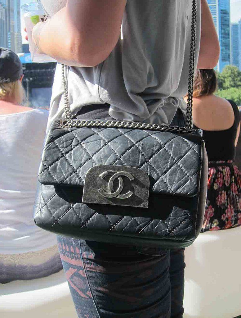 This vintage quilted Chanel bag let fellow festgoers know that its carrier was a true VIP.