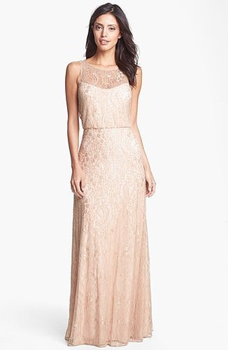 Aidan Mattox Embellished Lace Gown