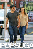 Jake Gyllenhaal held hands with his girlfriend, Alyssa Miller.