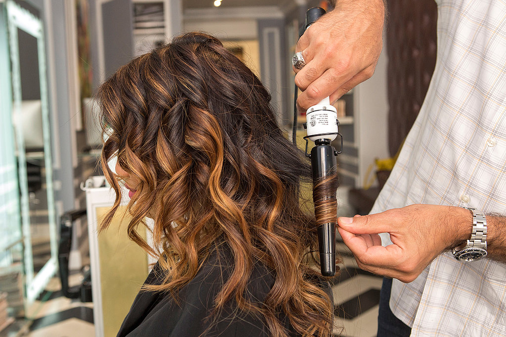 "You can continue to alternate the way your curl each section for the hair on the top of your head, too. ""The key to this look is the imperfection,"" Pipino explains."
