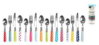 Present Time Set de 16 couverts multicolores Polka