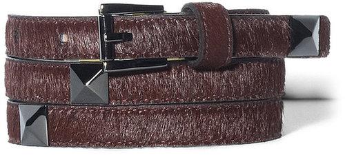 Studded Pony Hair Belt