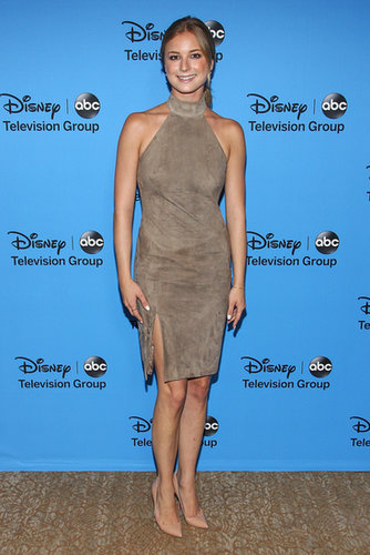 Emily VanCamp arrived at the party hosted by the Disney/ABC Television Group.