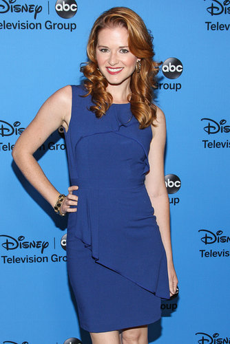 Sarah Drew wore a gorgeous shade of blue at the Disney/ABC Television Group's party.