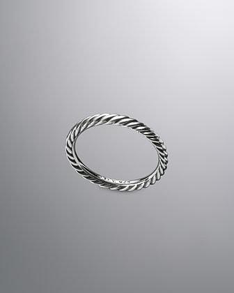 David Yurman Midnight Melange Stack Ring, 3mm